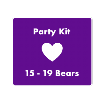"8"" Bear Party Kit for 15 Children"